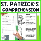 St Patrick's Day Reading Comprehension Passages and Questions