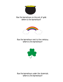 St Patrick's Day Concepts Cut and Paste Activity