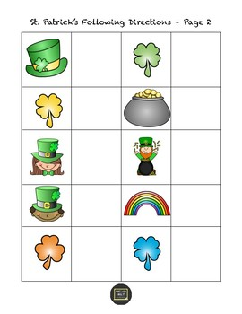 St. Patrick's Day Concepts & WH Questions
