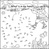 St. Patrick's Day Connect the Dots and Coloring Page with