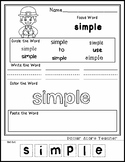 St. Patrick's Day - Celebration - Editable Word Worksheet