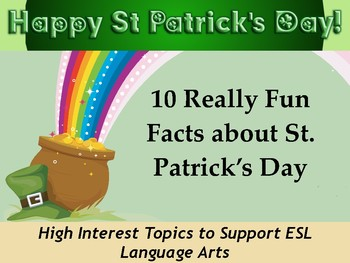St. Patrick's Day Contemporary Topics: Level 3.1