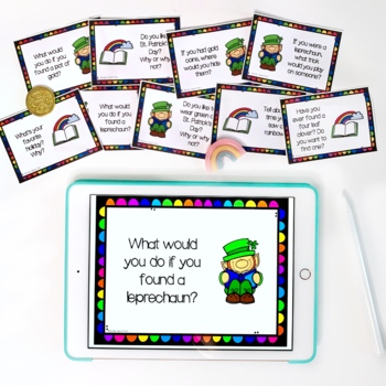 FREE St Patrick's Day Conversation & Writing Prompts
