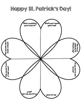 St. Patrick's Day Conversational Worksheet