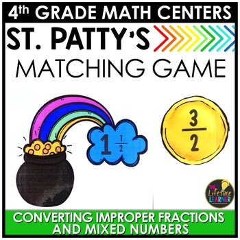 St. Patrick's Day Converting Fractions Game