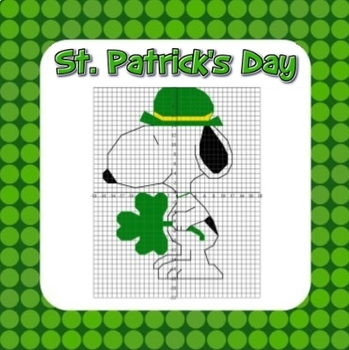 St. Patrick's Day Math Coordinate Graphing Fun! 2 Versions 1st Quadrant or all 4
