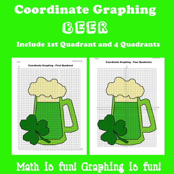 St. Patrick's Day Coordinate Graphing Picture: Beer