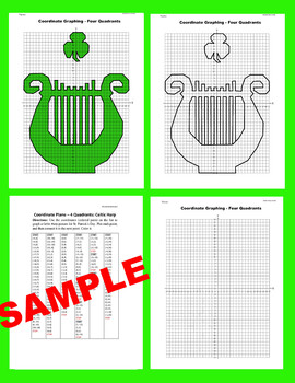 St. Patrick's Day Coordinate Graphing Picture: Celtic Harp
