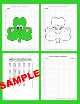 St.Patrick's Day Coordinate Graphing Picture:Shamrok