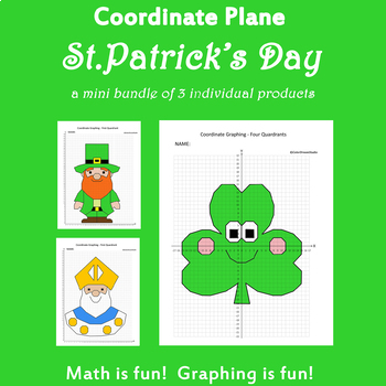 St.Patrick's Day Coordinate Graphing Picture:St.Patrick's Day Bundle