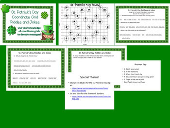 St. Patrick's Day Coordinate Grid Decode the Message