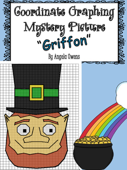 St. Patrick's Day Coordinate Grid Mystery Picture:  Griffon