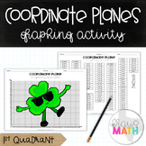 St. Patrick's Day Coordinate Plane Graphing Activity: Sham