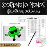 St. Patrick's Day Coordinate Plane Graphing Activity: Shamrock (1st Quadrant)