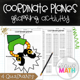 St. Patrick's Day Coordinate Planes Graphing Activity Pict