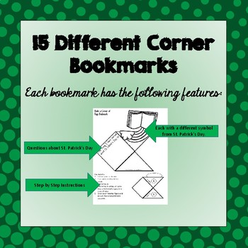 St. Patrick's Day Corner Book Marks