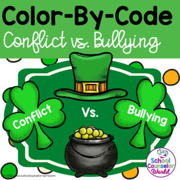 St. Patrick's Day Counseling Activity for Conflict vs. Bullying, Grades 2-3