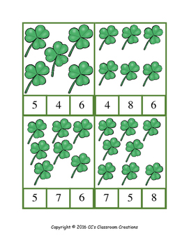 St. Patrick's Day Count and Clip