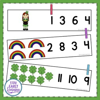St. Patrick's Day Count and Clip How Many