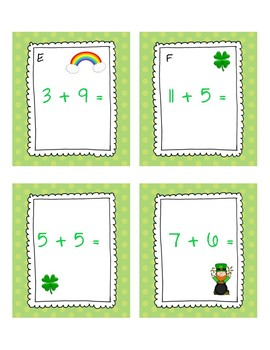 St. Patrick's Day Count the Room Addition to 20