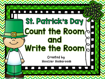 St. Patrick's Day Count the Room & Write the Room