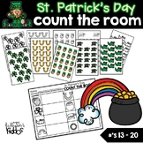 St. Patrick's Day Count the Room for Numbers 13-20