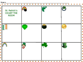 St. Patrick's Day Count the room #s10-20