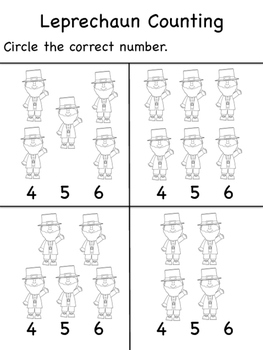 St. Patrick's Day Counting 1-10
