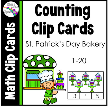St. Patrick's Day Counting 1-20 (Clip Cards)