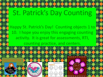 St. Patrick's Day Counting 1 to 10