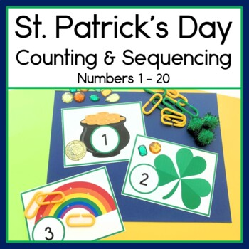 St. Patrick's Day Counting & Sequencing numbers 1 - 20