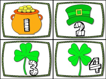 DOLLAR DEAL!!  St. Patrick's Day Counting Cards