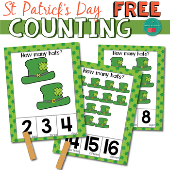 St Patrick's Day Counting Cards