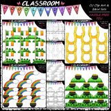 St. Patrick's Day Counting Clip Art & B&W Bundle 1 (4 Sets)