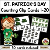 St. Patrick's Day Counting Clip Cards 1-20