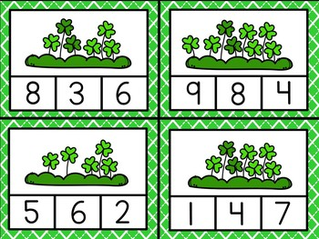 St. Patrick's Day Counting Clip Cards (1 - 10) - 4 Sets!