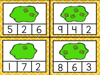 St. Patrick's Day Counting Clip Cards Numbers 1 - 10 - Shamrocks, Gold Coins