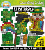 St. Patrick's Day Counting Cubes Clipart {Zip-A-Dee-Doo-Dah Designs}