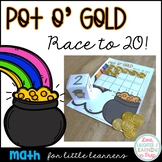 St. Patrick's Day Counting Game {Pot O' Gold Race to 20!}