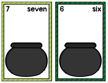 St. Patrick's Day Counting Mats 0-20