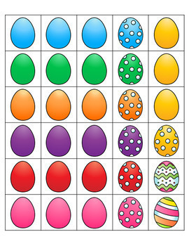 Easter Counting Mats 0-20