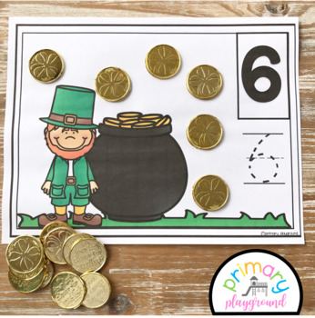 St. Patrick's Day Counting Mats 1 - 20