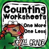 St. Patrick's Day Counting One More One Less Worksheets