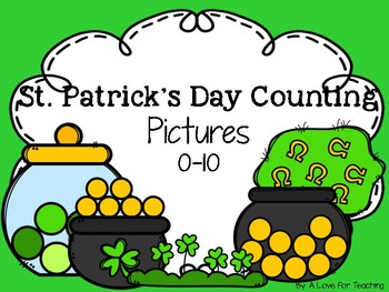 St. Patrick's Day Counting Pictures 0-10