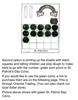 St. Patrick's Day Counting Sheets