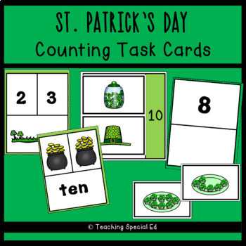 St.Patrick's Day Counting Task Cards