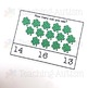 St Patrick's Day Counting Task Cards, Math Activity