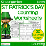 St Patrick's Day Counting Worksheets