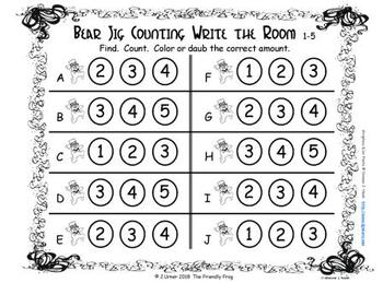 St. Patrick's Day Counting with 5 Frames {Subitizing}