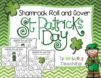 St. Patrick's Day Cover and Roll Math Center Dice Games